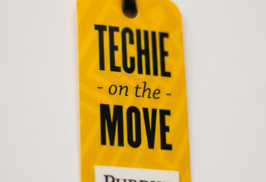 Techie luggage tag
